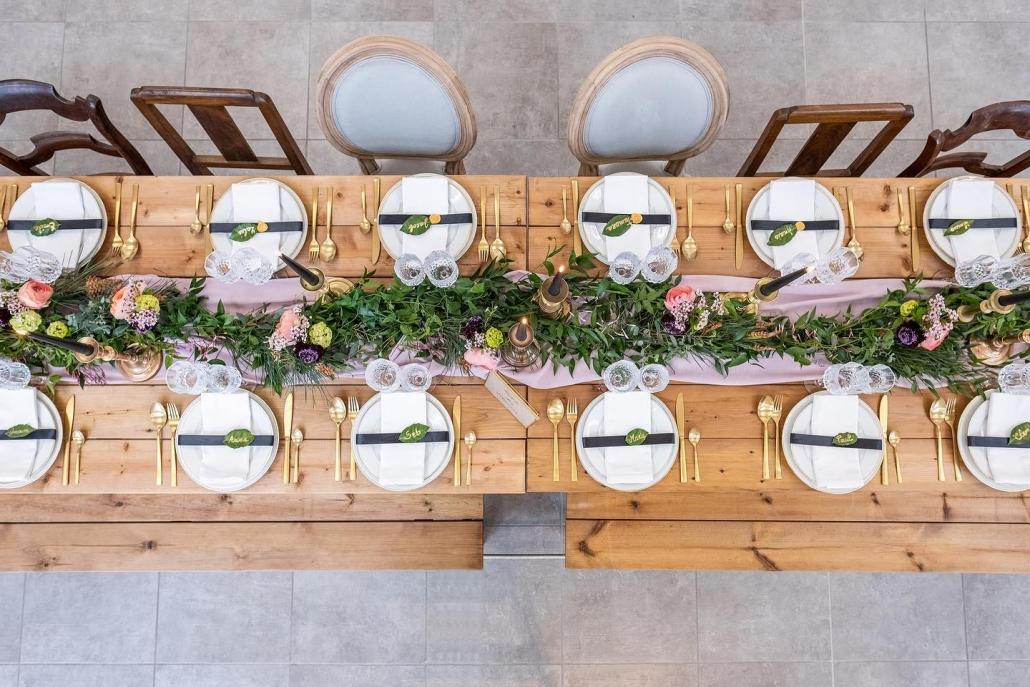 Fleurs réception mariage