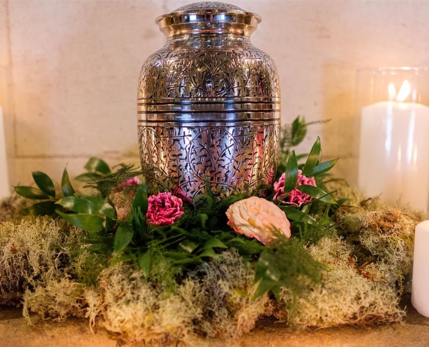 Décoration florale deuil