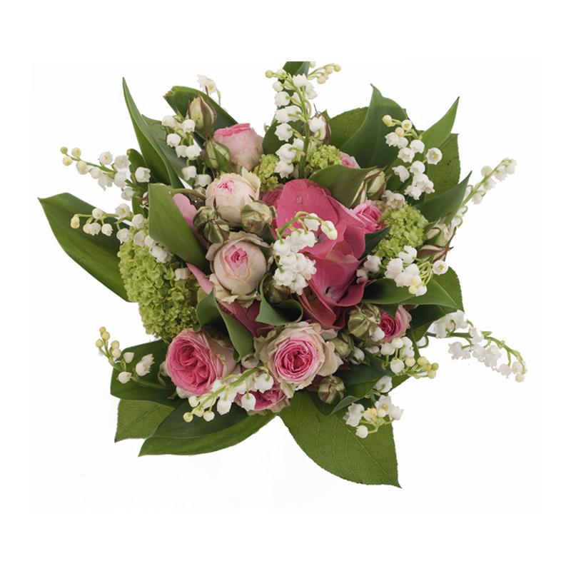 Bouquet de Muguet et autres fleurs couleurs pastel - 30€