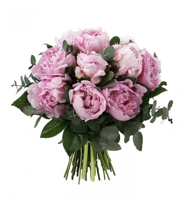 Exclu parfum de fleurs - Fête des mères - bouquet de 10 pivoines Sarah Bernardt et son feuillage assorti - 40€