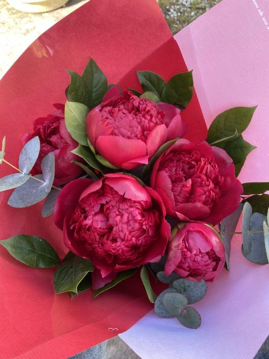Bouquet de 5 Pivoines - 20€