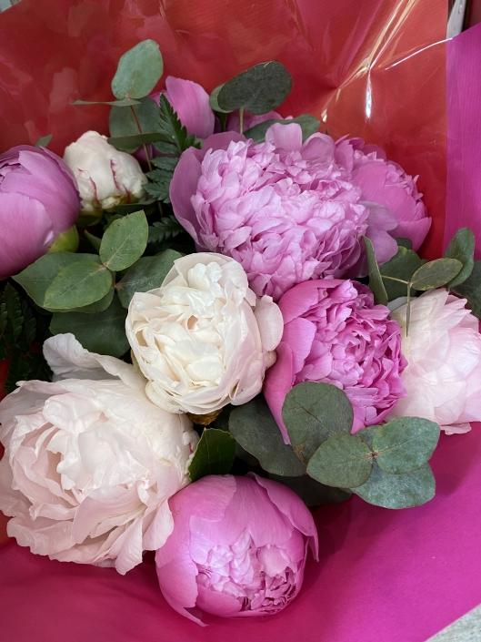 Bouquet de 9 Pivoines mélangées en couleurs - 40€